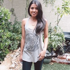 Project Social T Moon Olive Tank Top